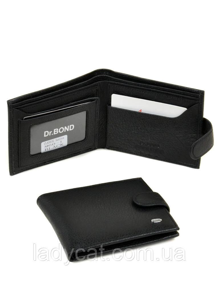 Мужской кошелек из натур. кожи M60-1 black