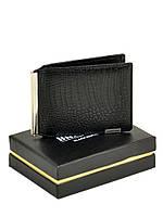 Мужской кожаный зажим для банкнот M3242 black, фото 1