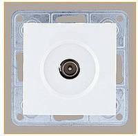 Розетка телевизионная проходная 3,5 dB LXL Tesla белый