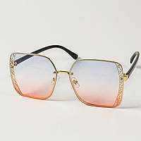 Женские солнцезащитные квадратные очки (арт. 6301/2) розово-голубые, фото 1