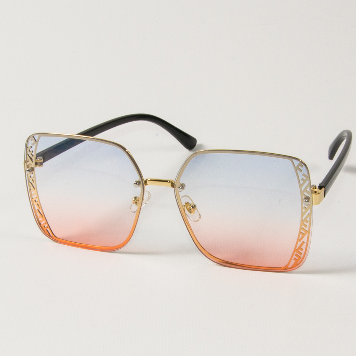 Женские солнцезащитные квадратные очки (арт. 6301/2) розово-голубые