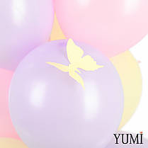 """Баббл с перьями, надписью """"С 8 марта!"""" и 9 нежных шаров с бабочками, фото 3"""