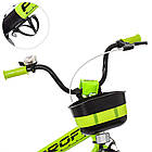 Детский велосипед колеса 20 дюймов PROFI Original W20115-6 стальная рама черно-зеленый, фото 2