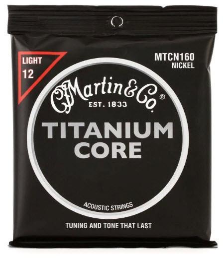 MARTIN MTCN160 Titanium Core Light (12-55) Струны для акустической гитары