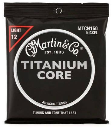 MARTIN MTCN160 Titanium Core Light (12-55) Струны для акустической гитары, фото 2