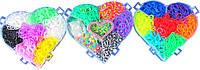 """Набор резинок для плетения в коробке """"сердце"""" 6000 резинок"""