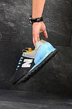 Кроссовки мужские демисезонные с голубыми шнурками, фото 2