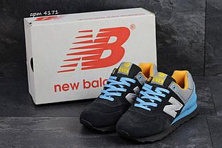 Кроссовки мужские демисезонные с голубыми шнурками, фото 3