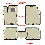Автоковрики iKovrik Премиум 5 шт в комплекте до восьми креплений, подпятник резина-пластик, 2 шильдика (n-487), фото 2