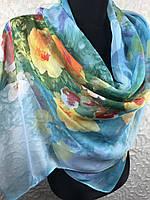 Легкий цветочный шарф (цв.03)