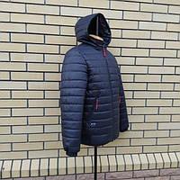 Модная, весенняя,теплая, удлиненная мужская куртка  большого размера р- 50, 52, 54, 56 , 58, 60. Новинка.Синяя