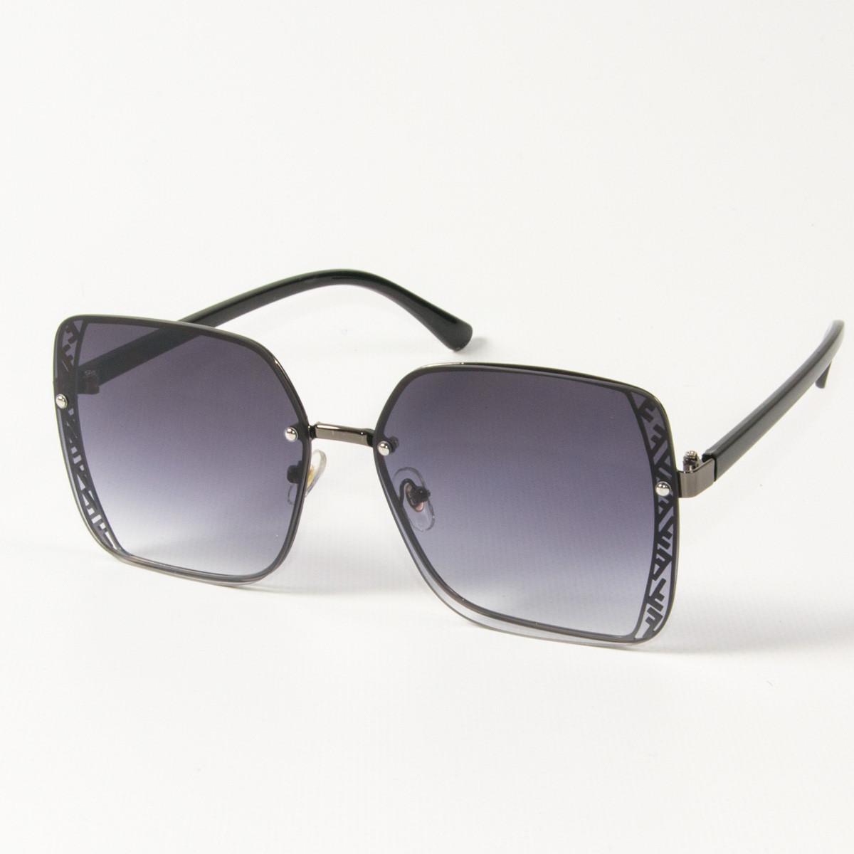 Оптом женские солнцезащитные квадратные очки (арт. 6301/6) черные