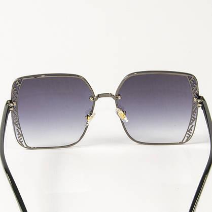 Оптом женские солнцезащитные квадратные очки (арт. 6301/6) черные, фото 2