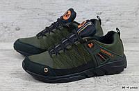 Мужские кожаные кроссовки Merrell (Реплика) (Код: М-4 хаки  ) ►Размеры [40,41,42,43,44,45], фото 1