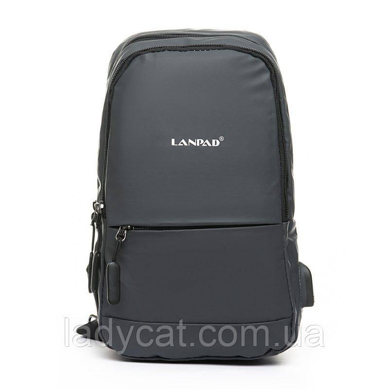 Мужская сумка на пояс Lanpad 301 grey