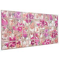 Пластиковая Декоративная Панель ПВХ плитка БОРДОВЫЙ ИРИС (964x484 мм)