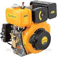 Двигатель дизельный SADKO DE-300 МЕ (вал под шлицы,электростартер) (6,0 л.с.)