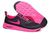 Кроссовки женские Nike Air Max Thea (nike max, найк аир макс, nike air, оригинал) черно-розовые