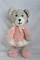 Мягкая детская игрушка ручной работы Мишка в платье, 29 см