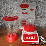 Блендер WimpeX WX 999 2 в 1,с кофемолкой,красний, 500 Вт, фото 4