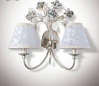 Настенный светильник, бра 2-х ламповое в стиле прованс