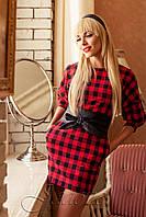 Красное платье в клетку Marani 42-50 размеры Jadone