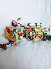 Бизикубик для детей развивающий ручной работы 2