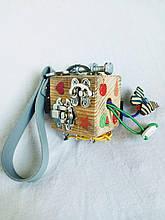 Бизикубик для детей развивающий ручной работы 1