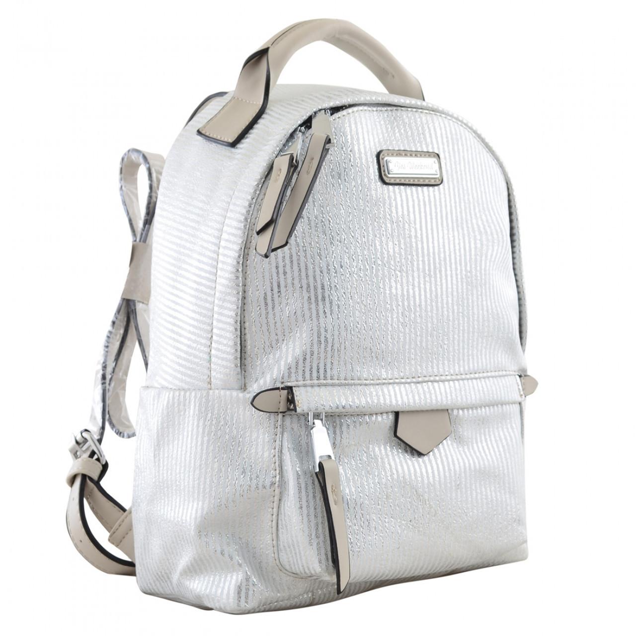 Рюкзак молодёжный YW-27, 22*32*12, серебряный