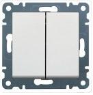 Выключатель 2-клавишный универсальный Lumina-2 белый