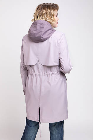 Плащ женский демисезонный с капюшоном, батал Токио | 50, 54, 56 размеры, фото 2