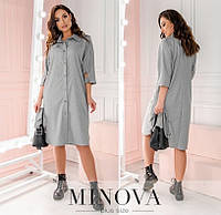 Сукня жіноча прямого крою (3 кольори) ОМ/-789 - Сірий, фото 1