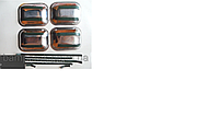 Накладка из нержавеющей стали (10 деталей) под ручку и на ручку ВАЗ 2108,2109-099