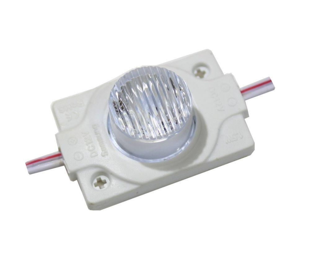 Светодиодный модуль PROLUM SMD 3030 1 LED 12V 1,5W с Линзой, Белый (5500-6000К)