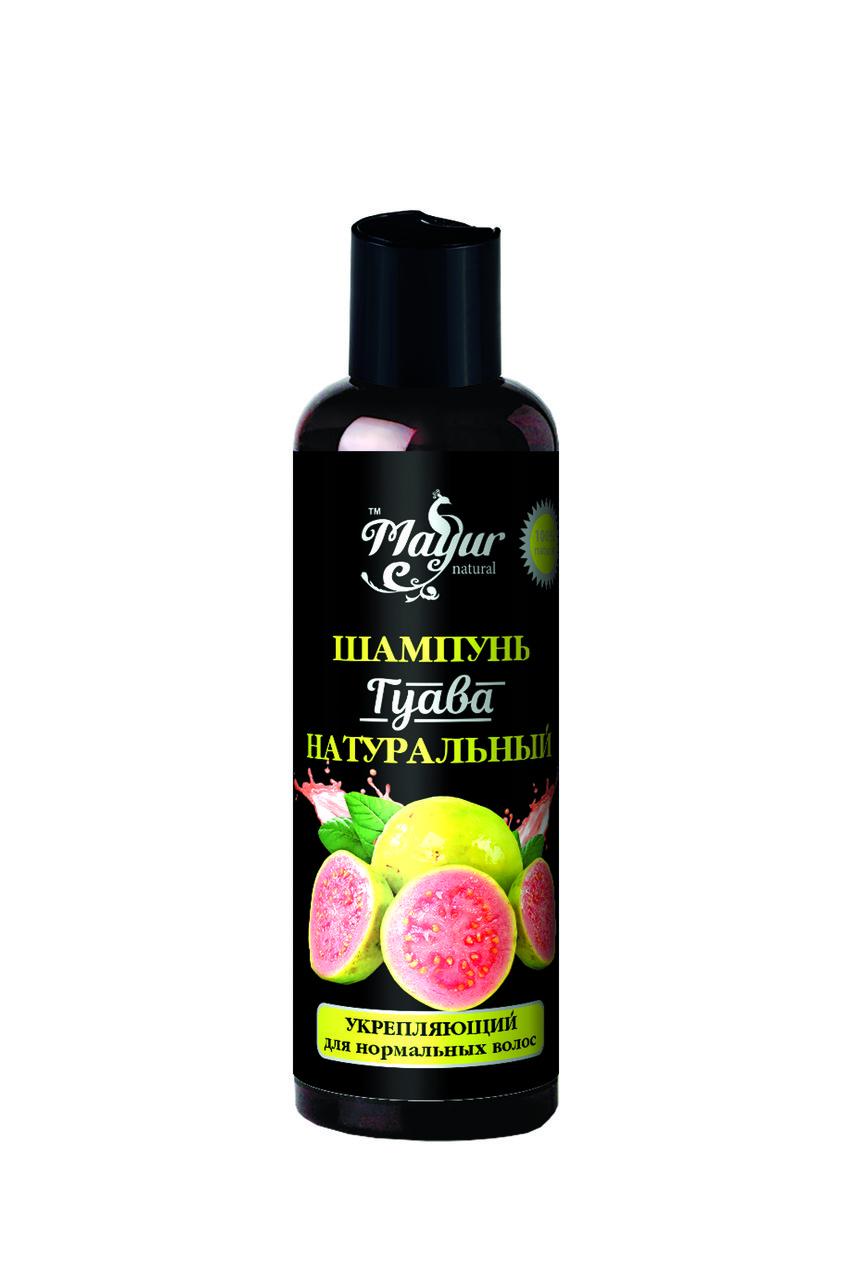 Шампунь «Гуава» натуральный укрепляющий для нормальных волос TM Mayur 200 мл