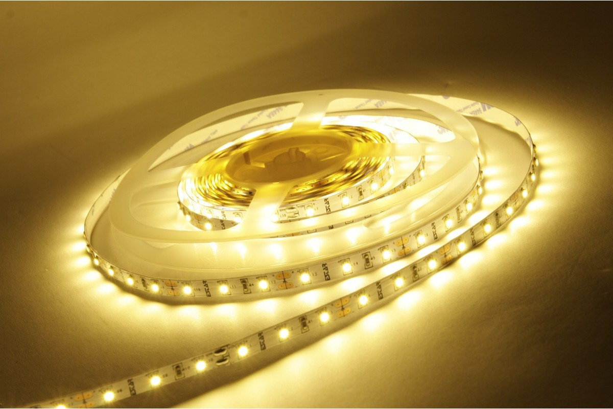 Економная желтого цвета LED лента 5050-30 IP20