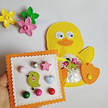 Игрушка искалка для детей ручной работы мягкая Уточка