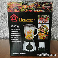 Блендер DOMOTEC MS-6609 2 в 1 с кофемолкой,стационарный 1000 Вт, фото 1