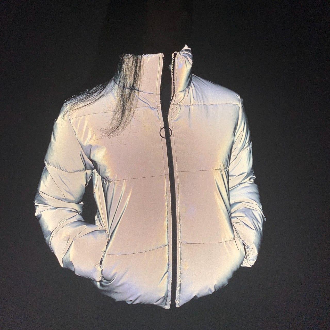 Рефлективна куртка світловідбиваюча ОПТОМ розміри з 38 по 48 модель Вік Рефлектив
