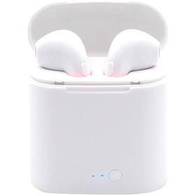 Беспроводные наушники I7s TWS Bluetooth c кейсом аналог, реплика Apple Airpods белые