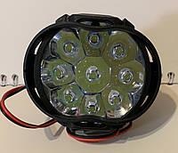 Светодиодная фара LED овал 10W 12-85V 60*50*45mm (1.1W*9) дальний Spot, фото 1