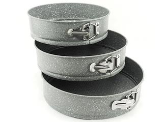 Форма для выпекания | Набор разъемных форм для выпечки мраморное покрытие Benson BN-1051