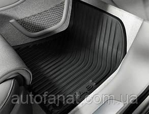Оригинальные передние коврики в салон Audi A8 (D4) резиновые (не Long) (4H1061501041)