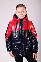 Куртка весенняя для мальчика подростка 36-42 красная