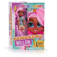 Новинка! Велика Лялька Хэрдораблс Віллоу 26 см Оригінал Hairdorables Hairmazing Willow Fashion Doll