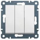 Выключатель 3-клавишный Lumina-2 белый