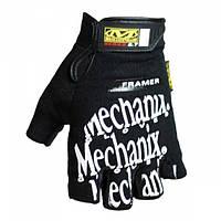 Перчатки тактические Mechanix беспалые Black, фото 1
