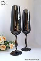 Набор бокалов для шампанского Bohemia Scopus 220 ml (цвет: ЧЕРНЫЙ хамелеон)