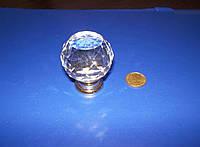 Ручка шарик стекло 35мм золотой, фото 1