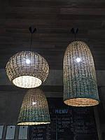 Комплект плетеных люстер | набор светильников  плетеных /плетеная люстры под размер